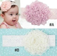 Baby Girl Dentelles Baby Flower Headband/Headwear for Infant, Baby, Toddler. Chiffon Flower on amazon today for $7.00 and Free Shipping see more at www.ddsgiftshop.com/baby