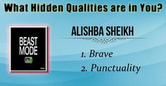 Check my results of What Hidden Qualities are in you? Facebook Fun App by clicking Visit Site button