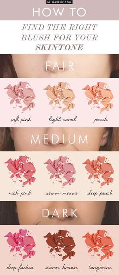 How-to find the right blush for your skintone? Here's how... #makeupdotcom #beautytips #hacks