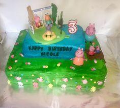 Peppa pig cake  Buttercream