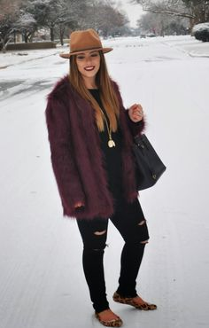 A Thread Of Couture - Faux fur jacket / Snow outfit