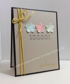 Stampin' Fun with Diana: Sketch Frenzy Friday Sketch Challenge: Petite Petals Get Well Greetings