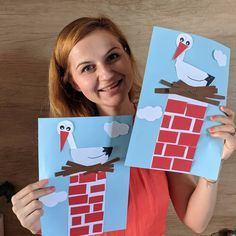 [New] The 10 Best Craft Ideas Today (with Pictures) - Stork Fun Crafts For Kids, Diy For Kids, Easy Crafts, Arts And Crafts, Paper Crafts, Spring Art, Spring Crafts, Letter D Crafts, Magic Crafts