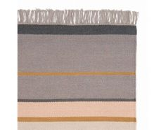 Place the Katni Rug in your living space for simple, stylish comfort at home. Handwoven with a 100% cotton warp and a 100% new wool weft, this beautiful, textured rug is adorned with alternating polyester stripes of peach, off-white, light grey and a touch of gold for a subtle metallic sheen. Soft fringing along the width completes this reversible Danish design. Team with our rug underlay to ensure your rug stands the test of time and keeps your flooring in good condition.
