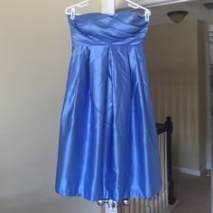 Beautiful blue dress! Used once/ the bow on the back is so perfect looking!(personal opinion)/ great for wedding or some other big event!**** Price can be talked about*** Bill Levkoff Other
