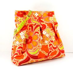 Shoulder Bag Orange and Green Amy Butler by SewMuchFabric2010, $46.00