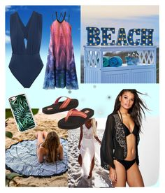 """""""The Dive"""" by luciakesting ❤ liked on Polyvore featuring Improvements, Casetify, WithChic, ViX, Title Nine and Boohoo"""