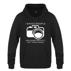 Camera sweatshirts with funny sayings xxxl plus size hoodie for men