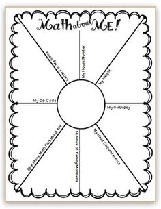 Math about Me! - FREE printable for Interactive Math Notebook / Journal