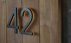 "Illuminated Bronze House Numbers 8"" - Outdoor LED Backlit Luxello"