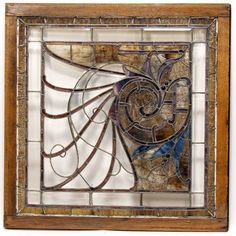 stained glass photo frame   Large antique leaded stained glass pub window in frame; Art Nouveau ...