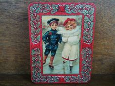 Vintage Christmas Biscuit Cookie Tin Box / English by EnglishShop, $29.00