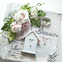 Ingvild Bolme: 3 of Love - small altered canvases