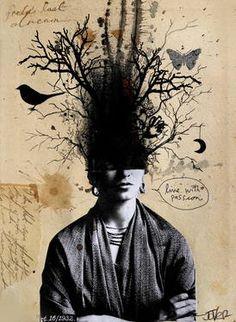 """Saatchi Art Artist Loui Jover; Collage, """"frida kahlo's last dream"""" #art"""