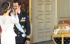 A few photos taken after the baptism of Prince Alexander of Sweden; Prince Carl…