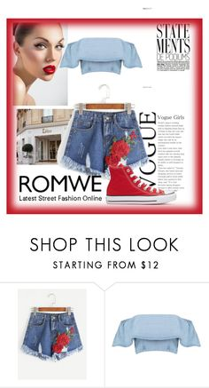 """""""ROMWE"""" by ana-976 ❤ liked on Polyvore featuring Converse"""