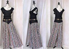 90882e49a9c Items similar to Vintage 80s jumpsuit   romper size L XL   One piece    palazzo pants jumpsuit   boho hippie   wide leg pants suit on Etsy