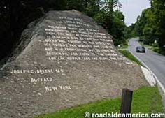 Lord's prayer rock sits at the bottom of Lincoln Gap in Bristol, Vt.