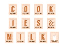 Free Milk and Cookies Party Printables