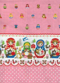 Matryoshka Russian Nesting Doll Fabric