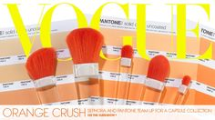 <3  Sephora teamed up with Pantone to create a limited-edition assortment of punchy, orange-themed cosmetics and beauty accessories for spring!