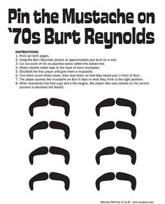 Mattel dropped the ball with this Game: Pin the Mustache on '70's Burt Reynolds