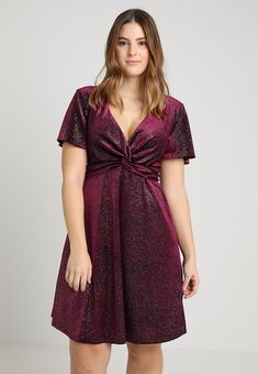 db3d1091dad4 New Look Curves TWIST DRESS - Cocktailkjoler   festkjoler - burgundy -