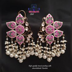Super Ideas for wedding rings pink gold beautiful Indian Jewelry Earrings, Indian Wedding Jewelry, Bridal Jewelry, Jewelery, Beaded Necklace, Necklaces, India Jewelry, Indian Bridal, Pearl Jewelry