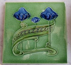 Art Nouveau tile from T & R Boote c1905, tile reference in the book Art Nouveau Tiles with Style.