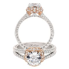 Just a touch of rose gold makes this Jack Kelége Engagement Ring a must-have for the Summer #JackKelege #ForeverTimeless #SayYes