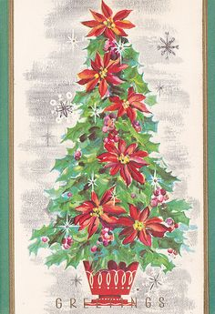 Vintage Christmas Card by jerkingchicken, via Flickr