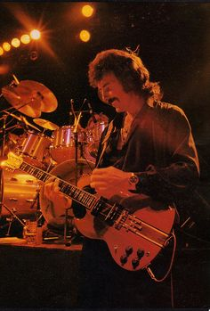 Tony Iommi onstage with Black Sabbath 1980