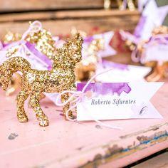 Shabby-Chic Glitter Unicorn Rainbow Wedding