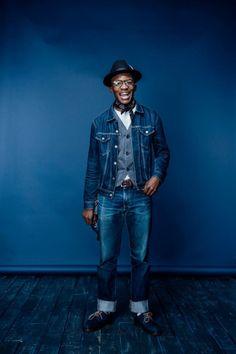 Mens Fashion Rugged – The World of Mens Fashion Blue Fashion, Denim Fashion, Denim Jacket Men, Men's Denim, Denim Style, Jeans, Japanese Denim, Sharp Dressed Man, Denim Outfit