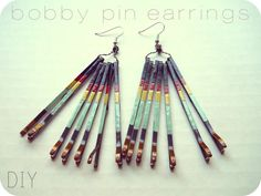 the Metric Child: DIY// bobby pin earrings These are made with bobby pins and nail polish!