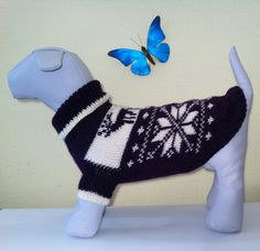 Knit Warm Winter Original Sweater For Big Dog. Handmade Knit Dog Clothing. Pet Knit Sweater. Dog Clothes. Size L