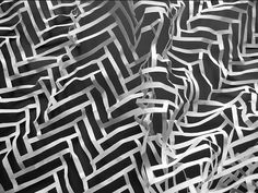 paper art with a herringbone pattern...