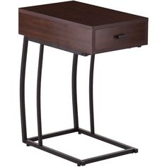 Porten Side Table With Power & Usb ($110) ❤ liked on Polyvore featuring home, furniture, tables, accent tables, nocolor, black side table, black lamp table, colored furniture, ebony furniture and black end tables
