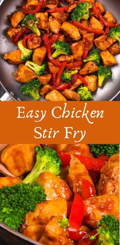 Chicken Stir Fry has tender chicken and vegetables in a delicious sauce. This chicken stir fry recipe will be on your table in 20 minutes for a healthy weeknight dinner that's easy to make! #recipe #chicken #easyrecipe #healthychickenstirfry