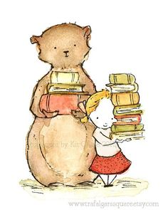 Me & my bear & my books a cup of tea and almost heaven