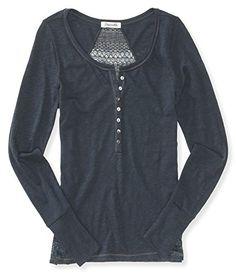 $16.25: Aeropostale Womens Sweater Back Henley Shirt