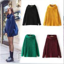 Fashion high-neck freshman sweater Free size Size: Shoulder 65 Bust 120 Length 64