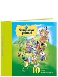 Sammakkoprinssi, 10 Grimmin satua Ankkalinnasta -kirja sisältää hulvattoman humoristiset versiot perinteisistä saduista. Upean kuvituksen on tehnyt ankkasarjakuvien tekijänä tunnettu Kari Korhonen.