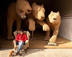 Shauna Richardson crocheted 'Three Lions'