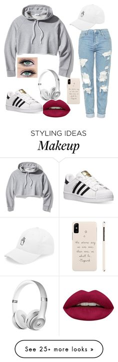 """""""Untitled #44"""" by mariaqt on Polyvore featuring Frame, Huda Beauty and adidas"""
