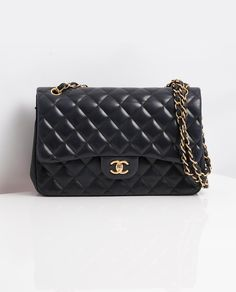 e749135d32e6 Vintage Chanel Large Classic Flap Bag Luxury Designer