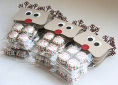 Reindeer Top Note Bag Toppers - great service project for homeless shelter