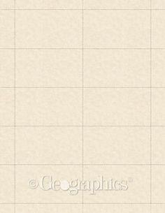 """Parchment Natural Business Cards, 65 lb, 2""""x3.5"""", 250/PK"""