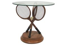 Side Table w/ Tennis Racquet Base on OneKingsLane.com