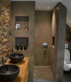 115 Extraordinary Small Bathroom Designs For Small Space. Modern Bathroom Designs For Small Spaces Modern Bathroom Design, Bathroom Interior Design, Serene Bathroom, Bath Design, Bathroom Black, Sink Design, Small Bathroom Designs, Masculine Bathroom, Lavatory Design